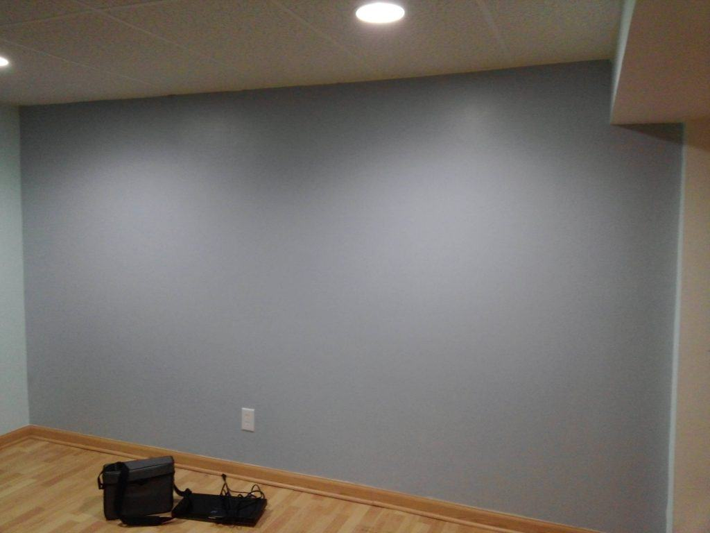 Wall painted with the Best Projector Screen Paint