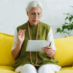 Grandma using Tablet for Seniors