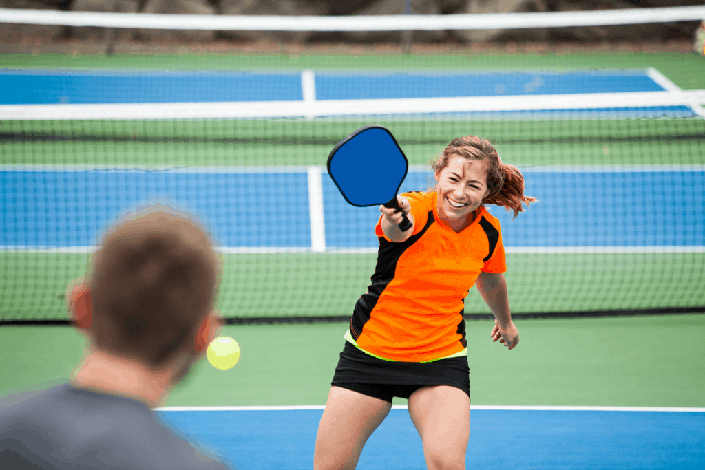 Girl Playing Pickleball - Pro Tips