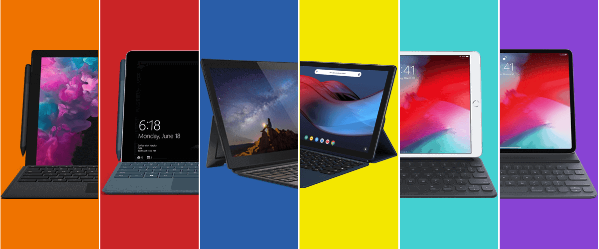 Surface Pro 6, Surface Go, iPad Pro, iPad Air and all the Best Business Tablets fo 2019