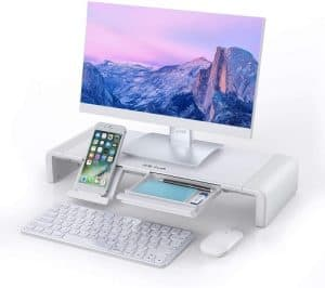 Computer Stand with Storage Drawer