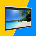 Best Choice Products 100-inch Motorized Screen
