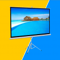 Gotobuy Tripod Manual Projection Screen